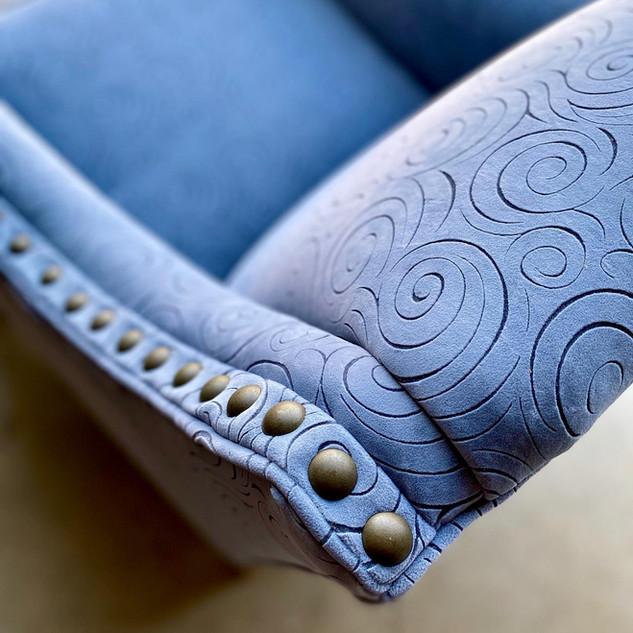 Blue Windy Chair