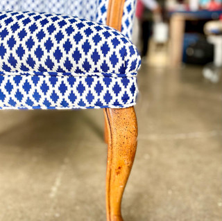 Stain Resistant Blue Pattern Chair