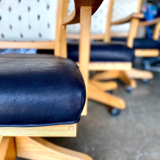 Genuine Leather Dining Chair Seats