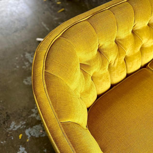 Sunflower Midcentury Love Seat
