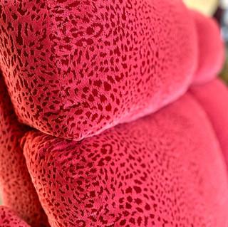 Red Microfiber Sofa