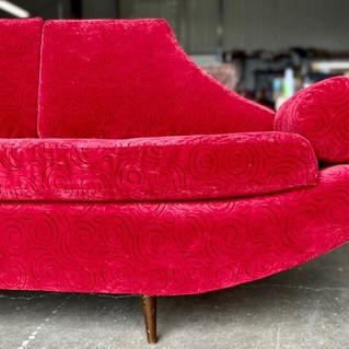 Midcentury Red Sofa