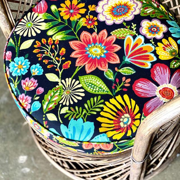 Round Floral Cushion