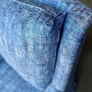 Blue Sheer Chair