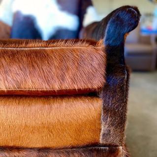 Genuine Hair on Leather