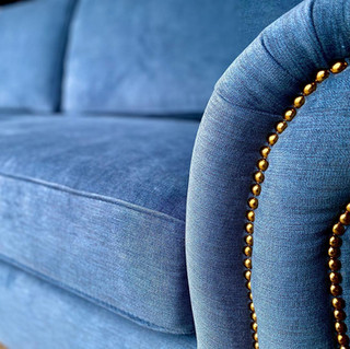 Stain Resistant Blue Sofa