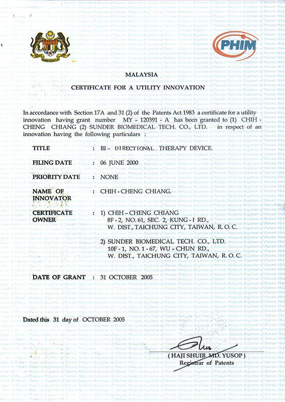 Malaysian patent