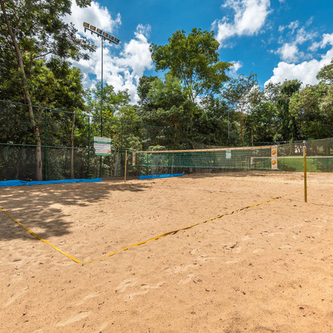 Quadras de areia para vôlei e futvôlei