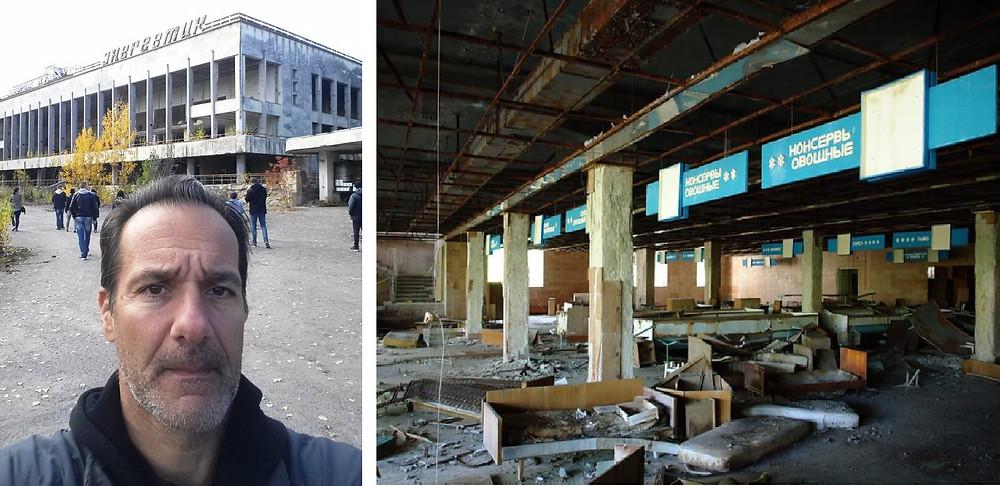 Ο υπογράφων στο εγκαταλειμμένο σουπερμάρκετ του Πρίπιατ, με τα «πέντε διαφορετικά είδη λουκάνικα»…