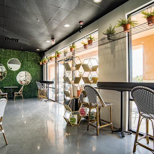 Sun Shining through Zen Coffee Bar
