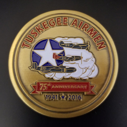 Tuskegee Airmen - 75th Anniversary Challenge Coin