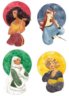 Hogwarts House Ladies