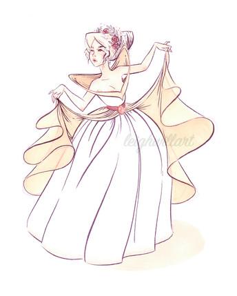 Futuristic Rococo Princess
