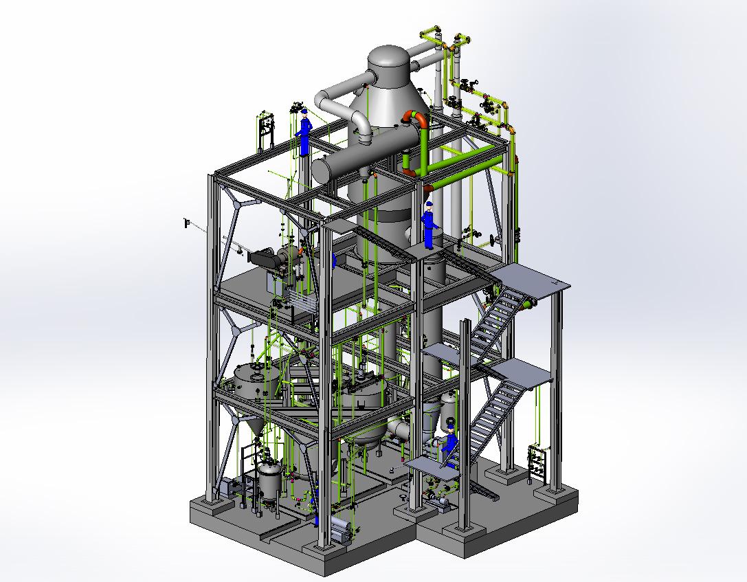 Crude azelaic acid plant-General view wi