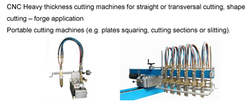 CNC heavy thickness cutting machines and