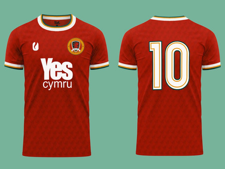 #IndyWales football team unveils new Home Shirt