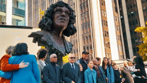 Statue to Cymru's first black headteacher, Betty Campbell, unveiled in Caerdydd city centre