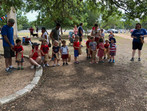 4th of July Human Pinata Game