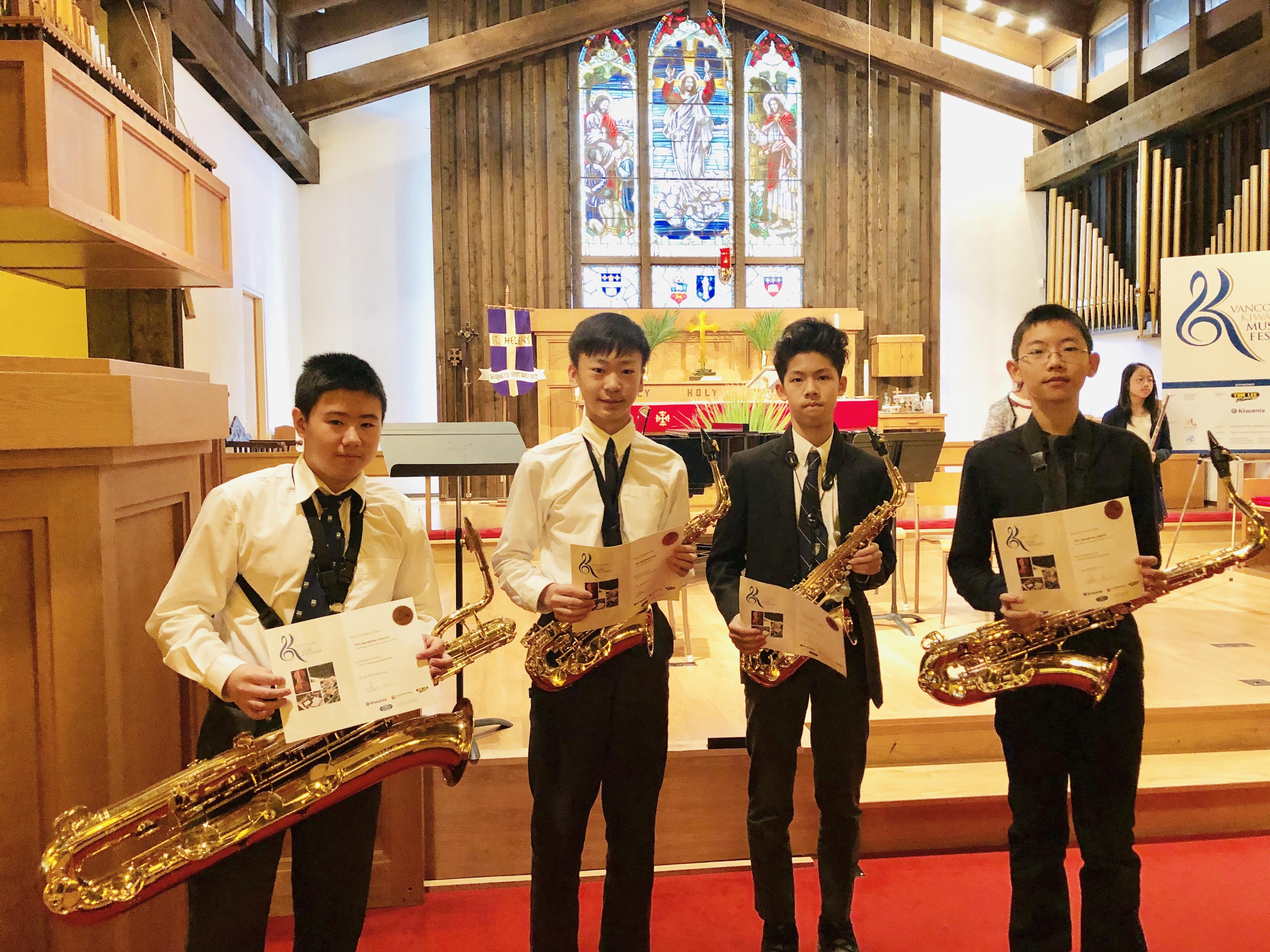 Phoenix Saxophone Academy Quartet