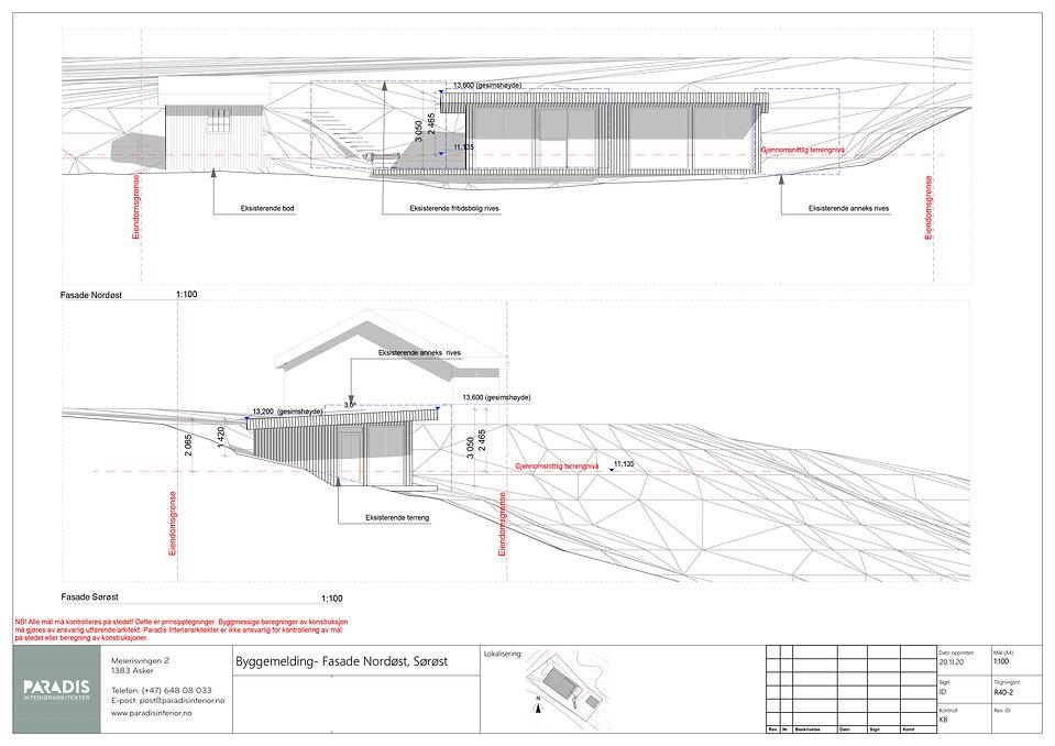 R40-2 Byggemelding- Fasade Nordøst, Sørø
