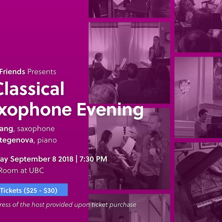 A Classical Saxophone Evening