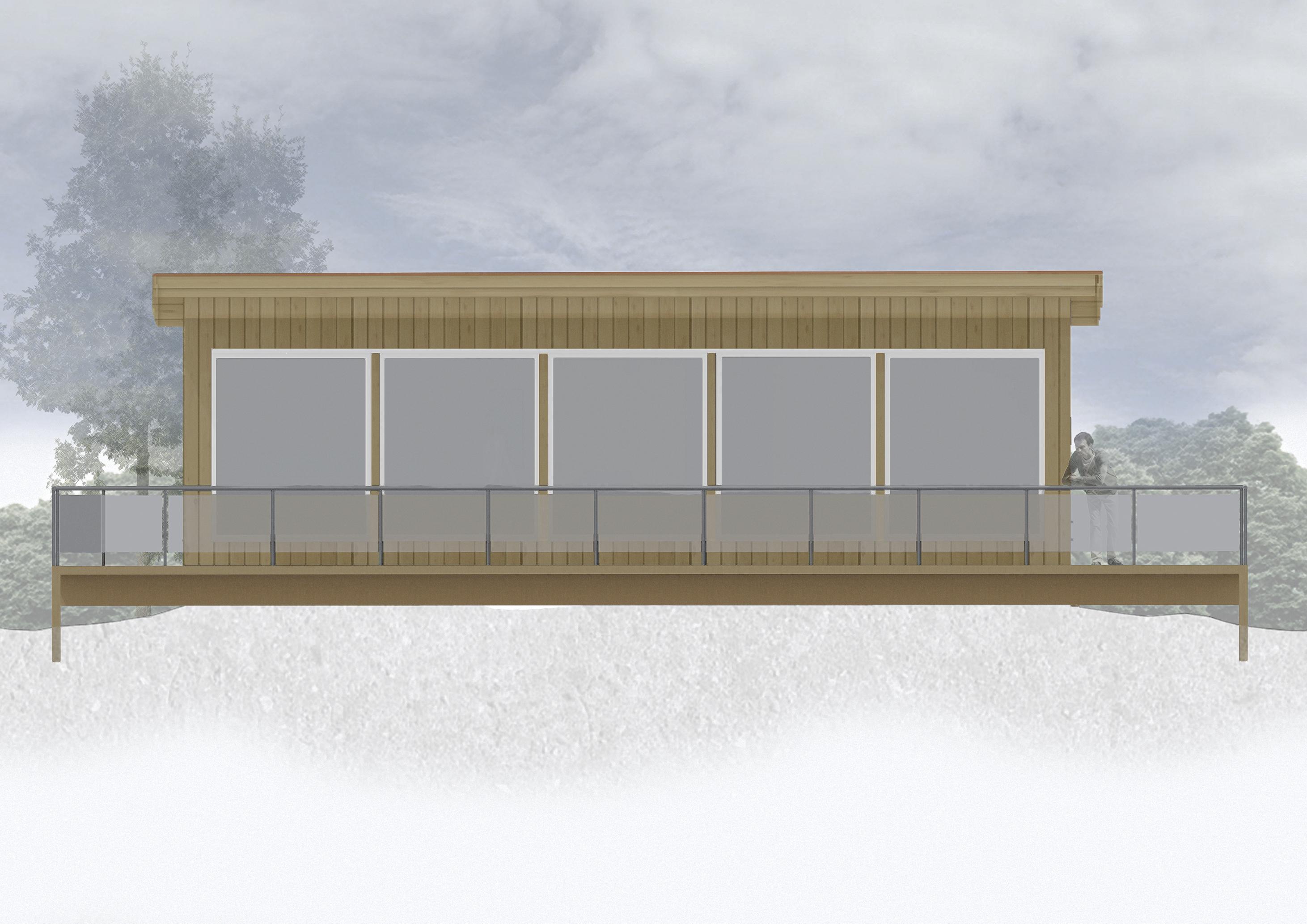 Fasade hytte nybygg