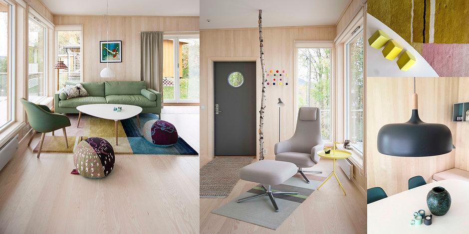 Paradis Interiørarkitekte tegnet hytte Svelvik