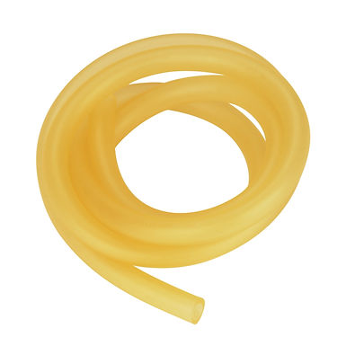 Rubber Tubing, Pure Latex Amber Tubing, 3/8in (9mm) O.D. 1/4in (6mm) I.D.