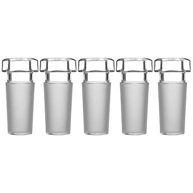 Hex Head Hollow Glass Stopper, Hexagonal Head, 24/40, Closed Bottom, 5 Pack