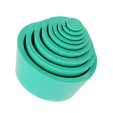 Filter Adapter Cones, Rubber Stopper Buchner Funnel Cones Set, 9 Pack Green