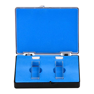 Quartz Cuvette, Spectrophotometer Cuvettes 10 mm L, 45 mm H, 3.4 mL, 2 Pack