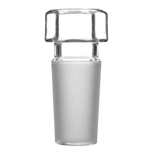 Hex Head Hollow Glass Stopper, Hexagonal Head, Closed Bottom, 1 Pack
