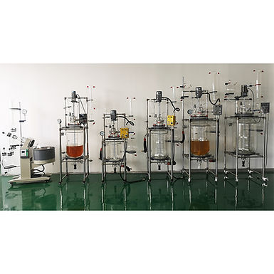 Premium Single Jacketed Glass Reactor with 7 Openings Glass Lid 10L/20L/50L/100L