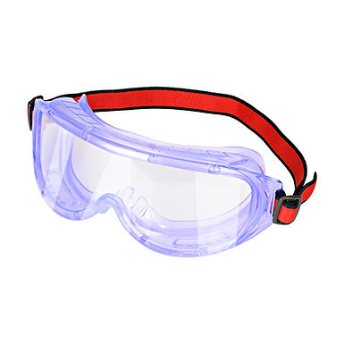 Safety Goggles, Chemical Splash and Impact Resistant - Red