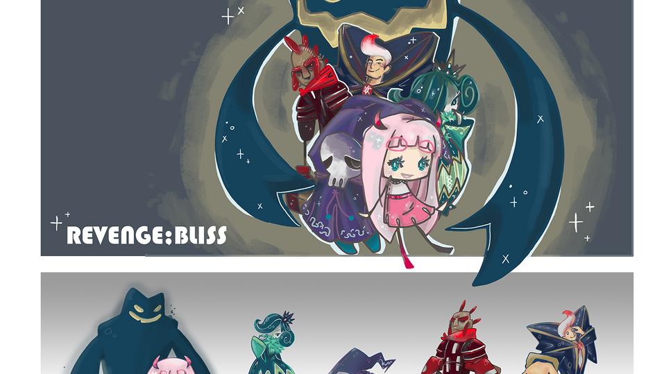 Revenge;Bliss Cover & Characters