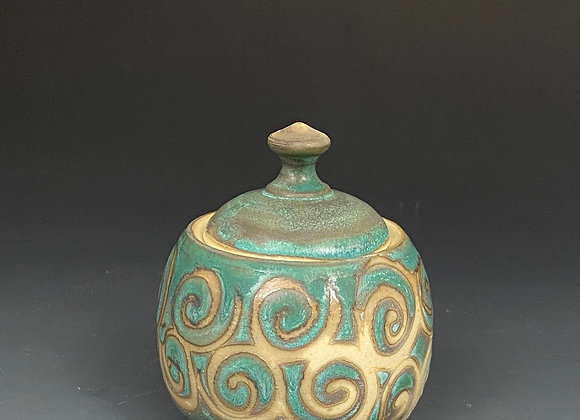 Small Pottery Lided Jar