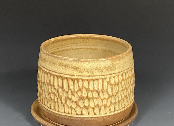 Small Carved Pottery Planter