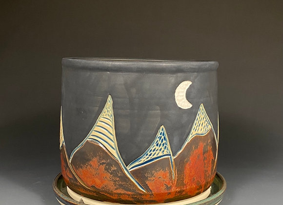 Large Mountain and Moon Planter