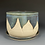Thumbnail: Mountain and moon pottery planter with plate