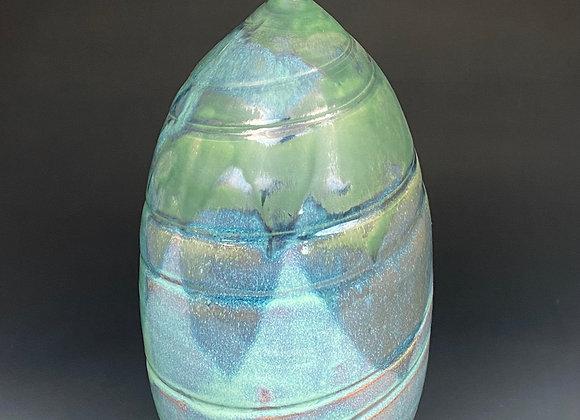 Large Spiral Pottery Vase
