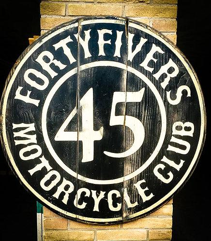 BESPOKE - Fortyfivers Vintage Wall Sign