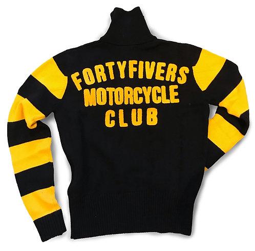Vintage Knit Race Jersey - Black/Old Gold