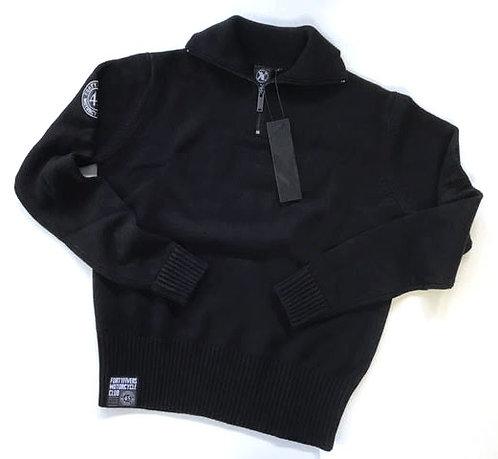 Vintage Knit Race Jersey - Black/Black