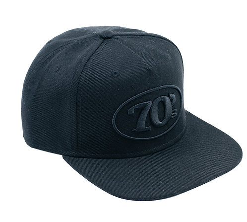 70s Flatbill Fitted Black
