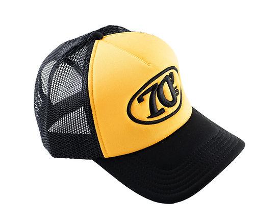 70's Mesh Trucker Yellow Black