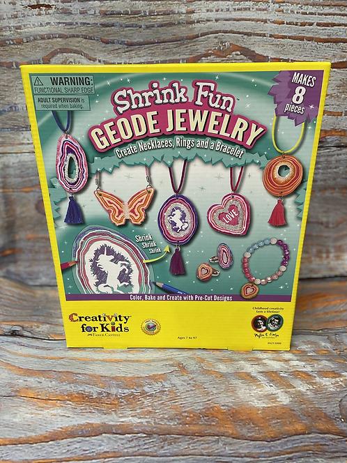Shrink Fun Geode Jewelry Kit