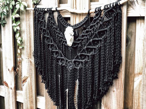 Custom Black Macrame Wall Hanging