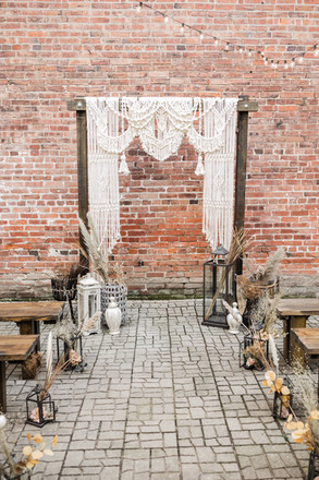 Backdrop + Aisle Decor