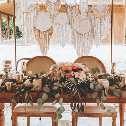 Sweetheart Table + Backdrop