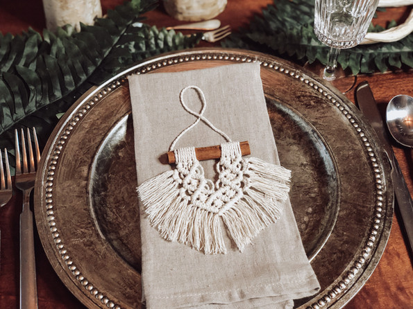 Tiny Macrame Wedding Favors